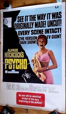 Psycho rare 40 x 60 Hitchcock horror Janet Leigh Universal Anthony Perkins