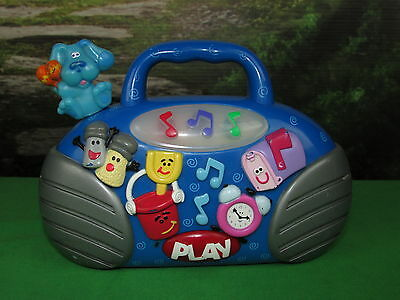 Fisher-Price Blues Clues Blue's Room Radio Musical Boombox Toy Light Up Mattel