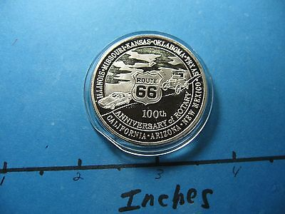 Route 66 Famous Highway 100Th Anniversary California Arizona 999 Silver Coin