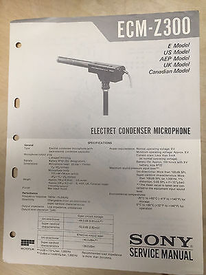 Sony Service Manual for the ECM-Z300  Microphone ~ Repair