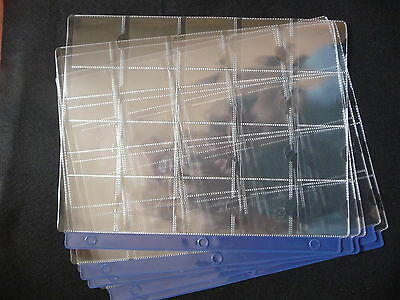 UNITRADE  20 POCKET PAGE FOR 2X2  COIN HOLDERS  ( package of 5 ) (#10)
