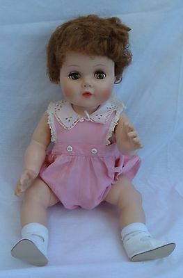 Vintage American Character Baby Doll With Sleep Eyes And Vintage Clothes Vinyl