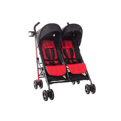 New Zobo 2X Side By Side Stroller - Cherry Model:19228691