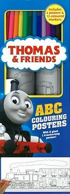 Thomas And Friends Colouring Poster ABC kit  trackable freepost australia'