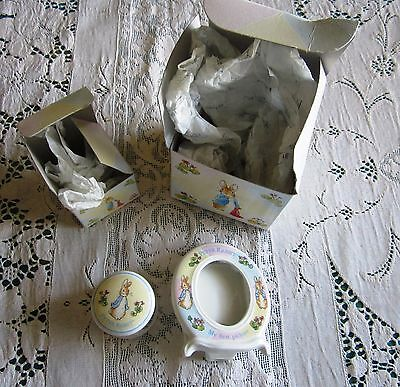 Peter Rabbit Wedgwood  Made in England My First Collection Tooth Box & Frame