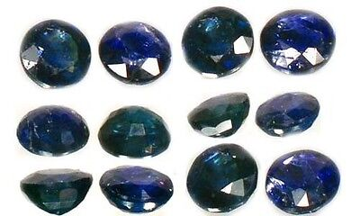 2 Antique 19thC Blue Sapphire Ancient Greek Roman Magic Gemstones