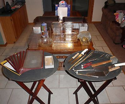 HUGE LOT of Restaurant Equipment Utensils Serving Trays Menu Holders Dishes MORE