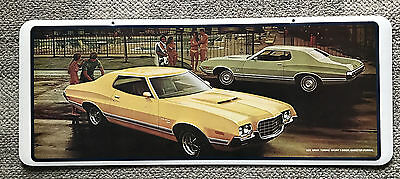 Ford  1972  Gran Torino Sport 2-Door  Dealer Showroom Sign  Poster