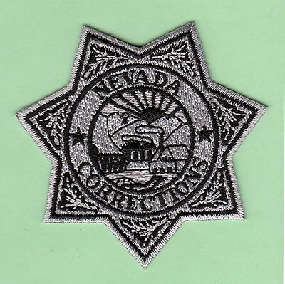 J28 * Subdued Gray Black Nevada Corrections Officer State Police Swat Patch Fbi