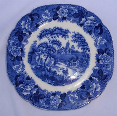 """Antique/Vintage Flow Blue PLATE By GH & Co Corona-Ware """"Old English"""" 10"""""""