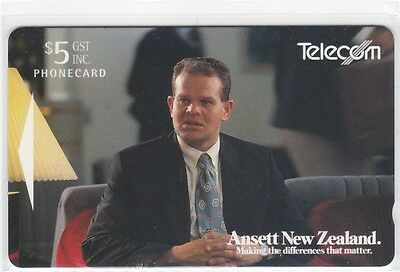 Nz 1994 Ansett Airline Telecom $5 Phonecard Fly Trap Mint Unused