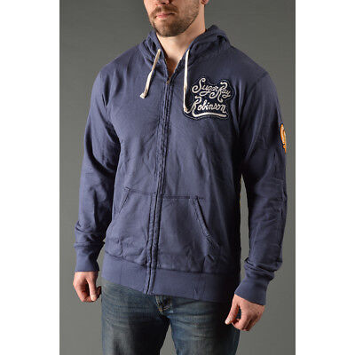 Roots of Fight Sugar Ray Robinson French Terry Zip-Up Hoodie - Navy