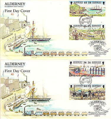 ALDERNEY 1997 GARRISON ISLAND 1st SERIES SET on FIRST DAY COVERS