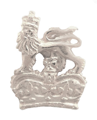UK Royal Coat of Arms St Edwards Crown Pin Badge Made in Polished English Pewter