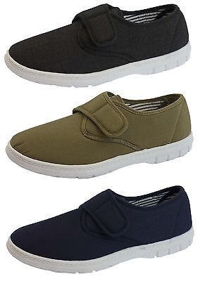 Mens Canvas Pumps Lightweight Sole Plimsolls Boat Deck Casual Comfort Shoes Size