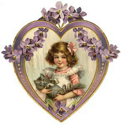 ShaBby VicToRiaN LaDieS HeaRTs & FLoWeRs WaTerSLiDe DeCALs *VinTaGe*