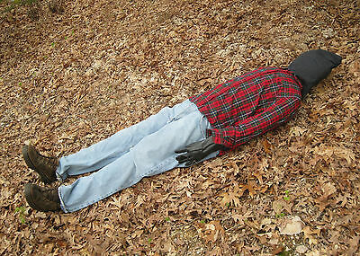 """Lifesize 6' Dead Man Scary Haunted House Halloween Life Size Prop 72"""""""