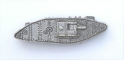 WW1 Great War Mark IV Tank Pin Badge - Hand Made in Polished English Pewter