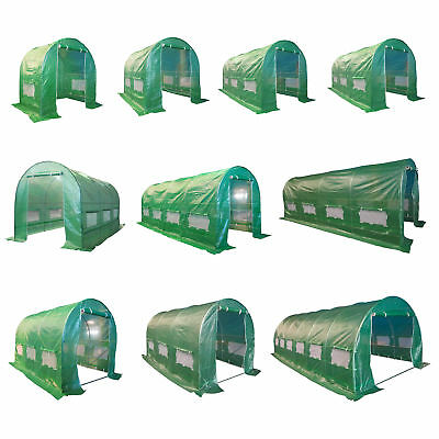BIRCHTREE Fully Galvanised Frame Polytunnel Greenhouse Pollytunnel Poly Tunnel