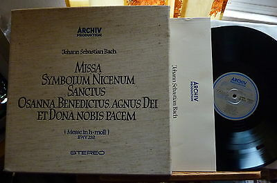 1961 Stereo Archiv 198190-2 Bach B Minor Mass Richter Munich 3LP cloth Box NM