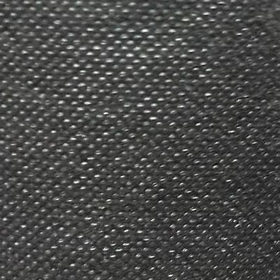 "36""Wide Non Woven Synthetic Polypropylene Dipryl Black Seating Upholstery Fabric"