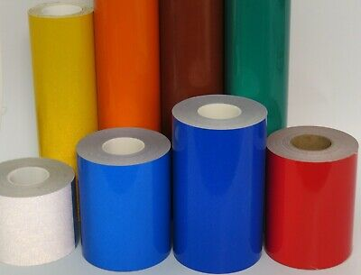 Reflective Tape Roll, Choose Any Color and Size, White, Yellow, Orange, Red
