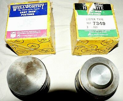 Lister D Wolesley Wd2 Nos Genuine Wellworthy Coventry Piston Oversize Petrol Tvo