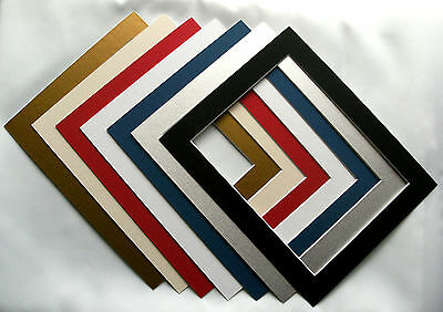 Square Photo / Picture Mounts frame size 33 cm x 33cm various sizes and colours