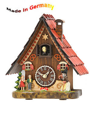 Cuckoo Clock from the Black Forest, Wood Dial, Made in Germany, Gift
