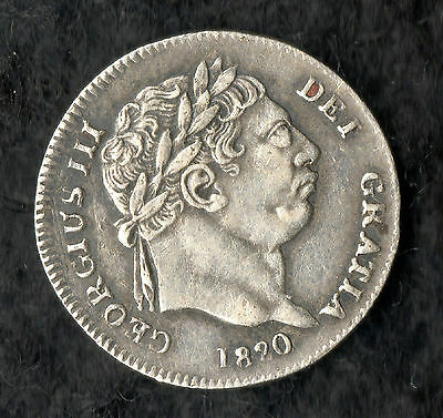 George III Maundy Twopence Silver 1820 Bull Head Last Issue