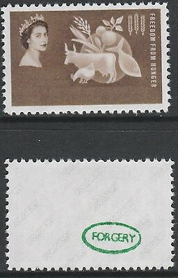 Bahamas (1420) 1963 FFH missing Country & Value -  a Maryland FORGERY unused
