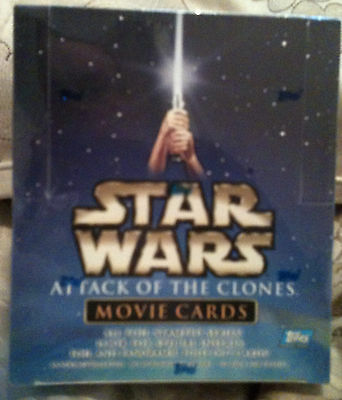 STAR WARS ATTACK OF THE CLONES MOVIE CARDS, Sealed box, All foil series, Topps