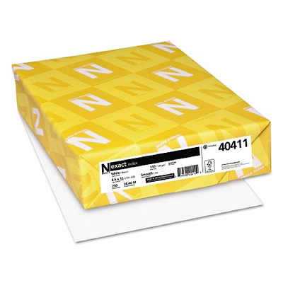Neenah Paper Exact Index Card Stock, 8 1/2 x 11, White, 250 Sheets