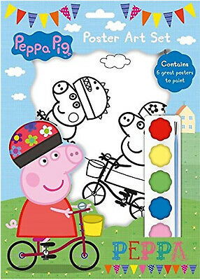 Peppa Pig's Poster Art Painting Set Christmas Childrens Party Bag Filler Xmas