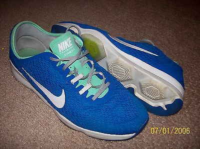 Womens Nike Training Zoom Fit Blue White Athletic Shoes Size 11
