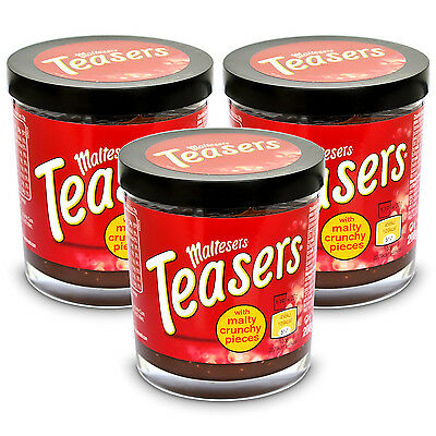 3x Maltesers Teasers Chocolate Spread with Crisp Honeycombed Brotaufstrich 200g