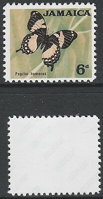 Jamaica (1426) 1964 Butterfly 6d missing blue -  a Maryland FORGERY unused