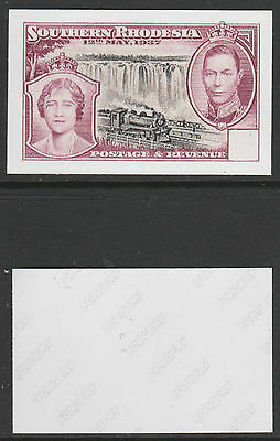 S Rhodesia (1430) 1937 Coronation blank value tablet - a Maryland FORGERY unused