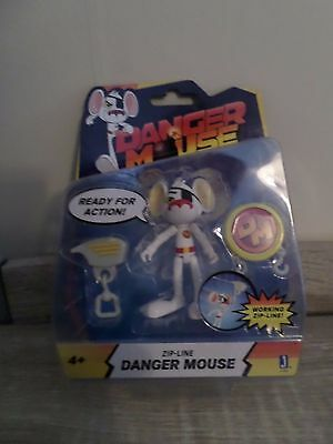 DANGER MOUSE 3 Inch Figure - Zip Line Danger Mouse BNIB NEW IN BOX GIFT SEALED