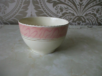 "Vintage retro Ceramic Sugar Bowl Basin Pink Cream 5"" Diameter x 3"" Tall"