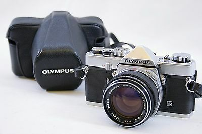 Olympus OM-1 35mm SLR Film Camera with Auto-S 50mm f1.4 Prime Lens