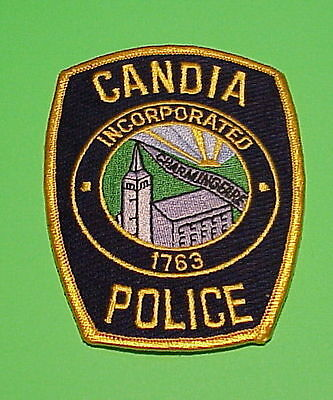 Candia  New Hampshire  Nh  Incorporated 1763  Police Patch   Free Shipping!!!