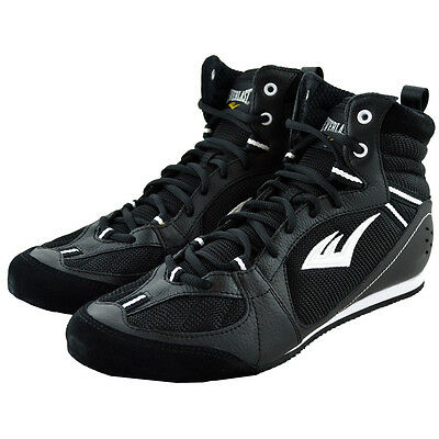 Everlast Lo-Top Pro Competition Boxing Shoes - Black - 7