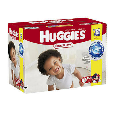 New Huggies Snug and Dry Size 5 Baby Disposable Diapers - 168 Count