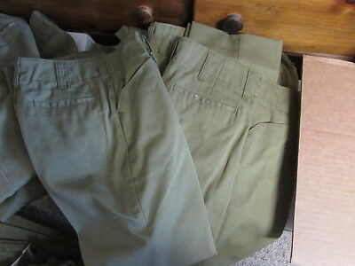 Vintage Boy Scout Pants, 1950-70s, Various Styles & Sizes, Lot of 9         UNF3
