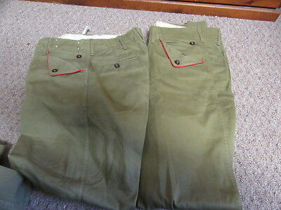 Vintage Boy Scout Pants, 1950-60s With Red Piping   Lot of 11         UNF4