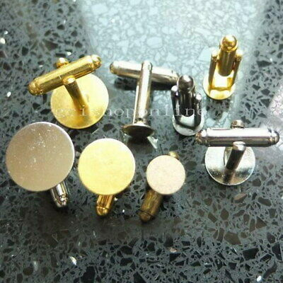 6 12 24 100 Brass Blank Plated CuffLink CUFF LINK 9mm 12mm 15mm Pad color GBP-UK