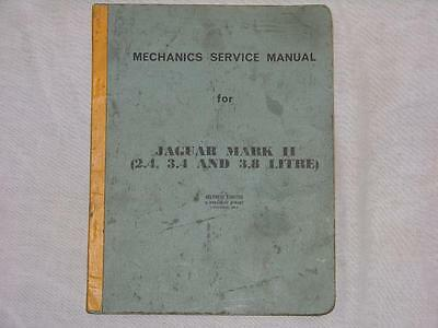 Original Mechanics Service Manual for Jaguar Mark II 2.4, 3.4 and 3.8 Litre