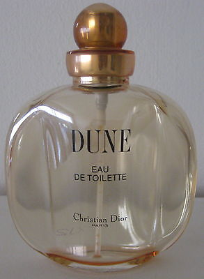 Dune Eau De Toilette Christian Dior Perfume Bottle Empty With Lid Cap 3.4 Fl Oz