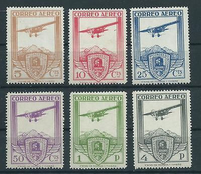 Spain 1930 Sc# C12/c17 Railway Air Post Mnh Forgery